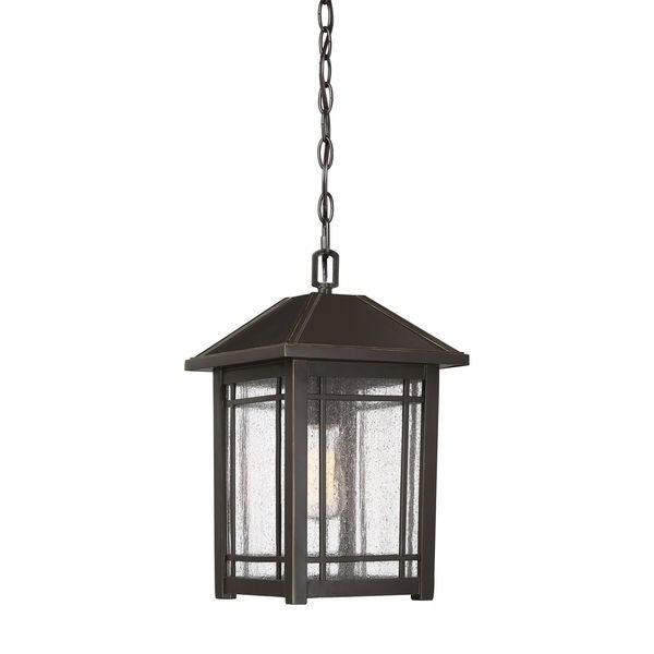 Quoizel Cedar Point Outdoor Hanging Palladian Bronze Aluminum Lantern