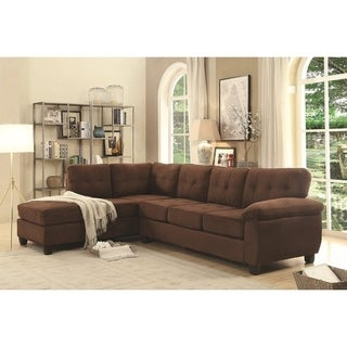 LYKE Home Jacob Contemporary Suede Sectional