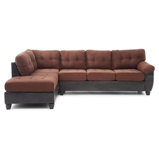 LYKE Home Jacob Two Toned Contemporary Suede Sectional