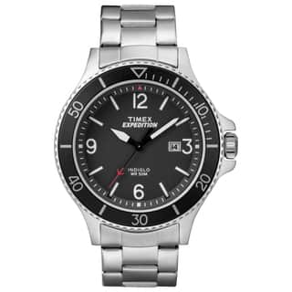 Timex Men's TW4B10900 Expedition Ranger Silver/Black Stainless Steel Bracelet Watch|https://ak1.ostkcdn.com/images/products/16766811/P23075523.jpg?impolicy=medium