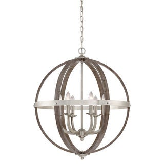Quoizel Fusion Brushed Nickel 24.5-inch Diameter 6-light Foyer Fixture
