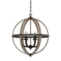 Quoizel Fusion 6-light Rustic Black 24.5-inch Diameter Foyer Light