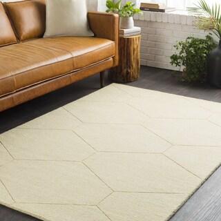 """Trocadero Yellow Hand-Loomed Wool Area Rug-5' x 7'6"""""""