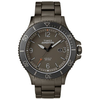 Timex Men's TW4B10800 Expedition Ranger Grey Stainless Steel Bracelet Watch