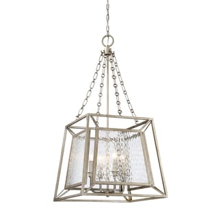 Quoizel Lakeside Vintage Gold Foyer 4-light Chandelier