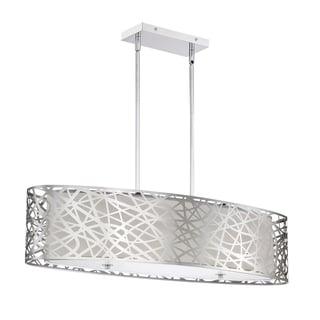 Quoizel Platinum Collection Abode Chrome 5-light Oval Island Light