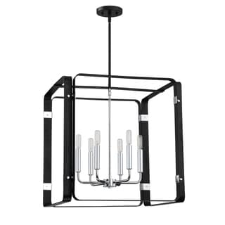 Quoizel Reveal Foyer Square Earth Black Steel 22-inch Light Fixture