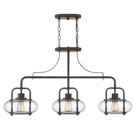 The Gray Barn Old Station Yard Old Bronze Steel 3-light Fixture