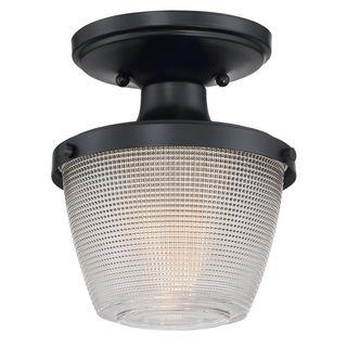 Quoizel Dublin Mystic Black Steel/Glass Semi-flush Light