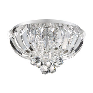 Quoizel Platinum Collection Glisten Polished Chrome 16-inch Diameter Flush Mount Light