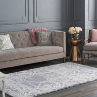 Colonial Home Grey Modern Abstract Wool Handmade Area Rug - 5' x 8'