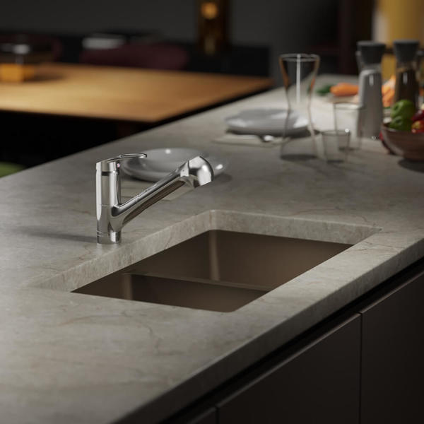 Ren By Elkay R3 1002 Cgf Equal Double Bowl Composite Granite Kitchen Sink With
