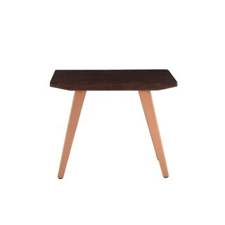 Acacia Rectangular Side Table in Dark Walnut by World Interiors
