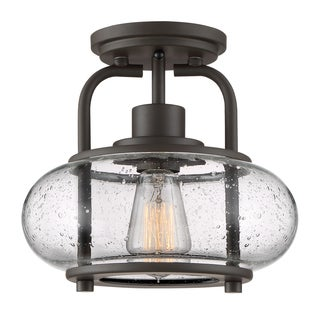 Quoizel Trilogy Old Bronze Steel Semi-flush 1-light Fixture