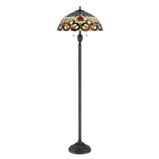 Quoizel Lyric Bronze Metal/Stained Glass Tiffany-style Floor Lamp