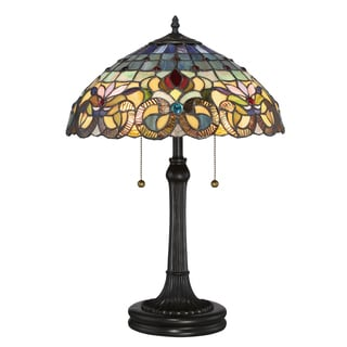 Quoizel Multicolored Glass/Metal/Resin Table Lamp