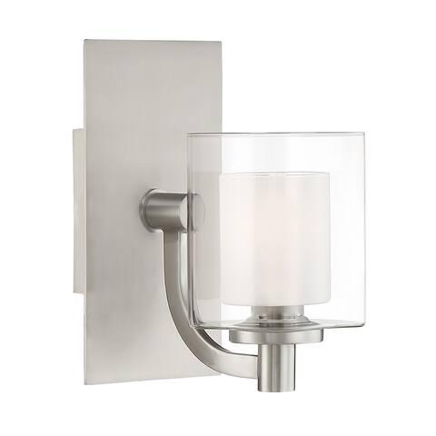 Quoizel Kolt Brushed Nickel Steel LED G9 1-light Bath Fixture