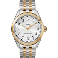Timex Men's TW2R48100 Briarwood Two-Tone Stainless Steel Expansion Band Watch