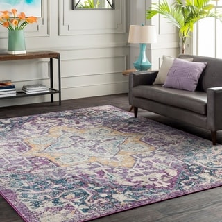 "Trocadero Purple Vintage Persian Area Rug-5'3"" x 7'6"""