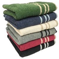 "Ruthy's Textile 27"" X 50"" 100% Cotton Bath Towels (Set of 3 assorted colors)"