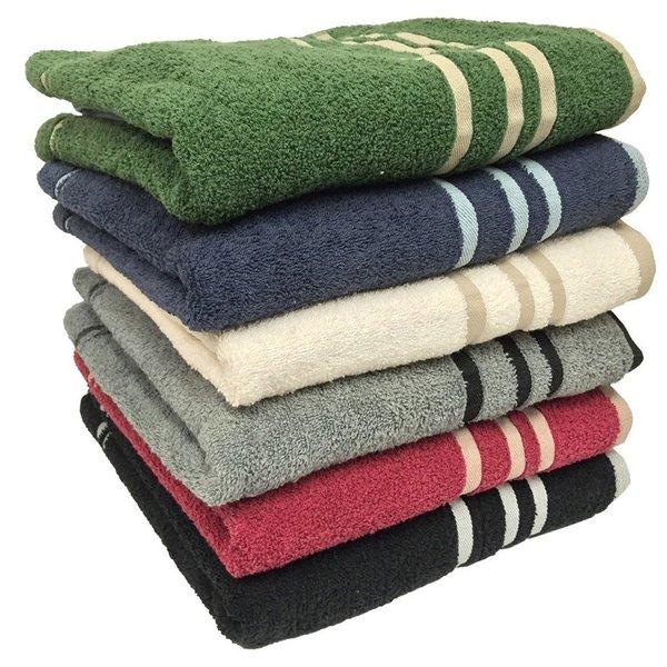 "Ruthy's Textile 27"" X 50"" 100% Cotton Bath Towels (Set of 3 assorted colors)"