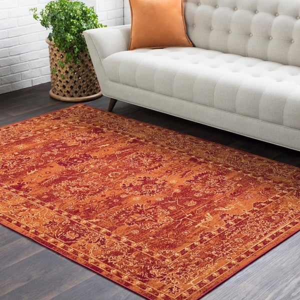 Shop Trocadero Red Contemporary Persian Area Rug 5 3 Quot X