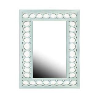 Benzara Blue Wood-framed Wall Mirror