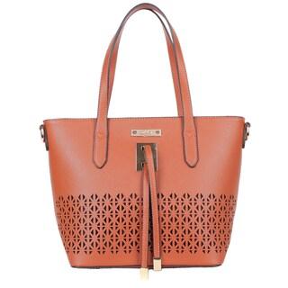 Nikky Laser Cut Design Tote Bag with detachable Shoulder Strap