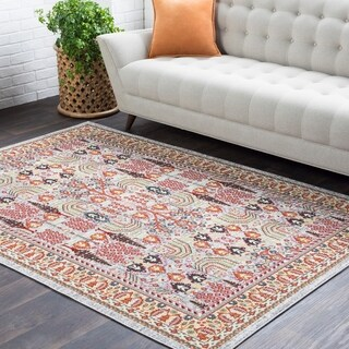 Colonial Home Pink Oriental Persian Area Rug-5'3 x 7'6