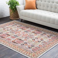 "Colonial Home Pink Oriental Persian Area Rug - 5'3"" x 7'6"""
