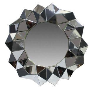 Benzara Grey Polystone-framed Wall Mirror