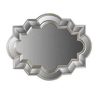 Benzara Silver Polystone-framed Mirror