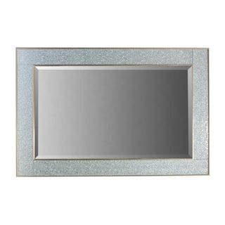 Benzara Chic Silver Mirror With Polystone Frame