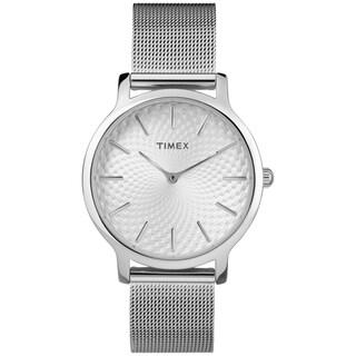 Timex Women's TW2R36200 Metropolitan Skyline Silver-Tone Stainless Steel Mesh Bracelet Watch