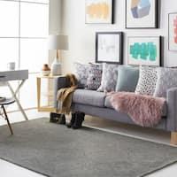 Colonial Home Grey Contemporary Trellis Handmade Area Rug - 5' x 8'