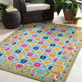 Trocadero Contemporary Oriental Indoor/ Outdoor Area Rug