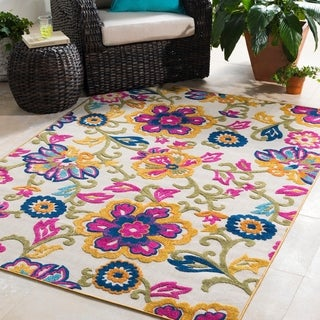 Trocadero Bohemian Floral Indoor/ Outdoor Area Rug
