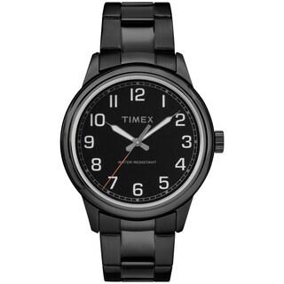 Timex Men's TW2R36800 New England Black Stainless Steel Bracelet Watch
