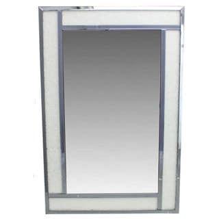 Benzara White Wood-framed Wall Mirror