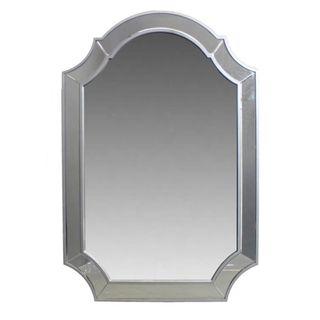 Benzara Grey Wood Wall Mirror