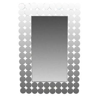 Benzara Grey Wood-framed Wall Mirror