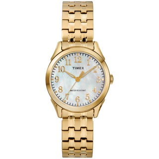 Timex Women's TW2R48500 Briarwood Gold-Tone/MOP Stainless Steel Expansion Band Watch