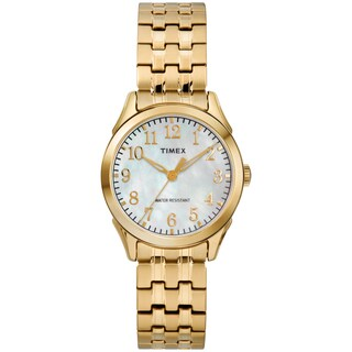 Timex Women's TW2R48500 Briarwood Gold-Tone/MOP Stainless Steel Expansion Band Watch - GOLD