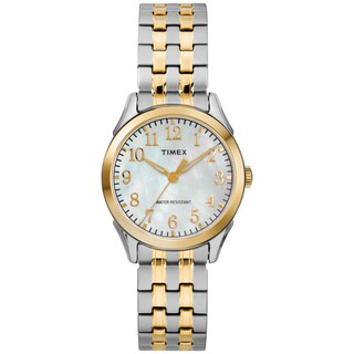 Timex Women's TW2R48400 Briarwood Two-Tone/MOP Stainless Steel Expansion Band Watch - Two-tone