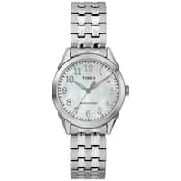 Timex Women's TW2R48300 Briarwood Silver-Tone/MOP Stainless Steel Expansion Band Watch - silver
