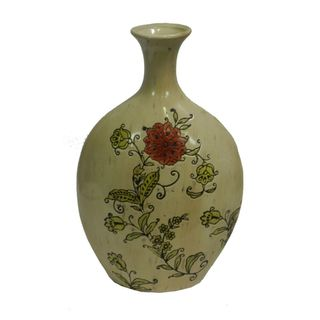 Essential Decor & Beyond Classic Floral Ceramic Table Vase EN30864