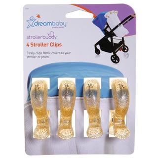 Dreambaby® Strollerbuddy® Stroller Blanket Clips, 4 Pack, Gold Glitter