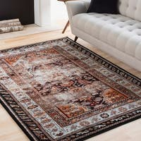 "Sienna Multicolored Weathered Persian Area Rug - 5'3"" x 7'3"""