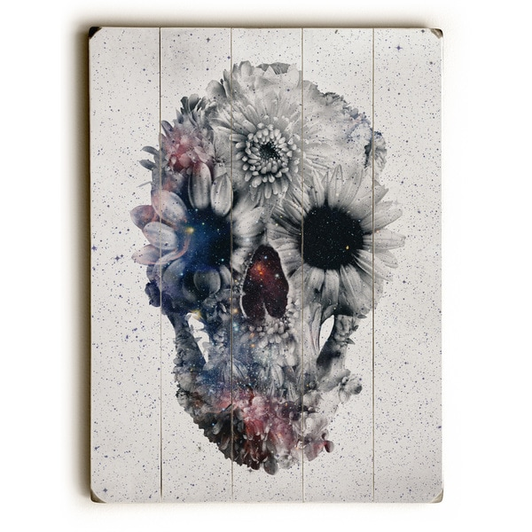 Floral Skull 2 - Multi Wall Decor by Ali Gulec