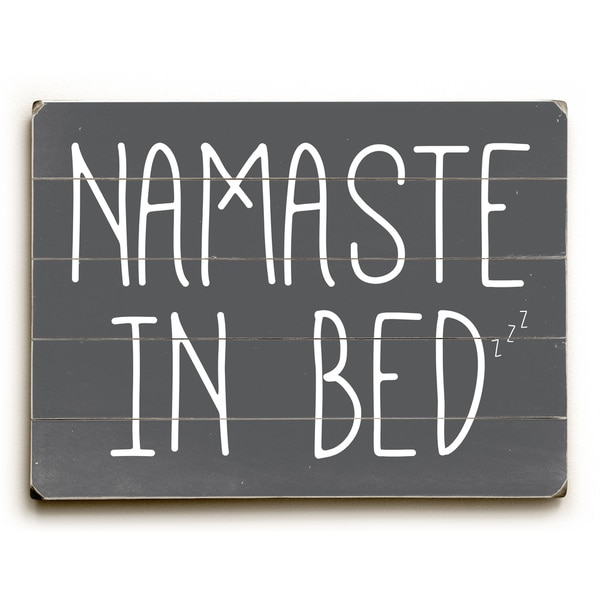 Shop Namaste In Bed Solid - Grey Wall Decor by OBC - On Sale - Free ...